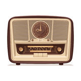 Retro de radio Radio vieja Ejemplo de un receptor de radio viejo del siglo pasado Imagen de archivo