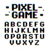 Retro de stijldoopvont van het pixelspel Stock Afbeelding