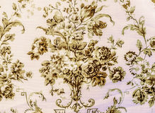 Retro de Stoffen van het Kant Bloemen Naadloze Patroon Bruine Uitstekende Stijl Als achtergrond Royalty-vrije Stock Foto's