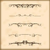 Retro de tekstverdelers en decoratie van ontwerpelementen Stock Afbeeldingen