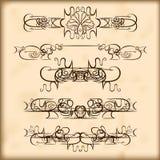 Retro de tekstverdelers en decoratie van ontwerpelementen Royalty-vrije Stock Afbeelding