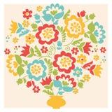 Retro de zomerboeket van de stijlbloem in pastelkleur Stock Afbeelding