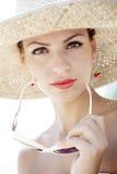 Retro de zomermeisje Royalty-vrije Stock Fotografie