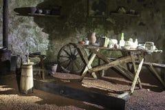 Retro decor hut inside Royalty Free Stock Image
