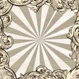 Retro decorative background. With vintage leaf - illustration Stock Photo