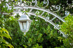 Retro decorative lantern in the garden Stock Image
