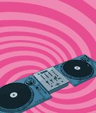 Retro deejay Royalty Free Stock Photography