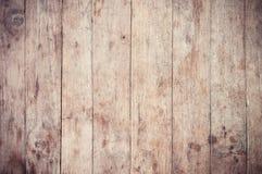 Retro del fondo di legno della plancia Fotografie Stock Libere da Diritti