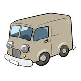 Retro delivery van Royalty Free Stock Images