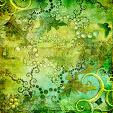 Retro- in den grünen Farben stock abbildung