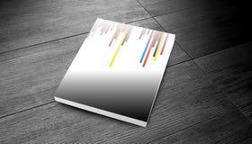 Retro derisione della copertura di rivista su Fotografia Stock