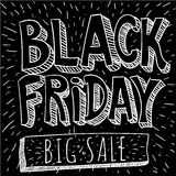 Retro derisione di stile di Black Friday su Illustrazione di Stock