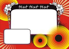 Retro design. Decorativ design with white place for text Stock Image