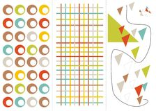 Retro design. Elements in vector Stock Images