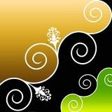 Retro Design. Background,  Ornament and Flower Royalty Free Stock Photo