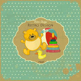 Retro Design Baby Card Royalty Free Stock Photos