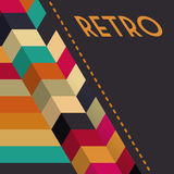 Retro design. Retro  backgrounds, over brown background vector illustration Royalty Free Stock Images