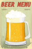 Retro Design Beer Menu Royalty Free Stock Photography