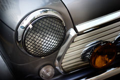 Retro design classic of vintage car head light, soft and blur concept Stock Photos