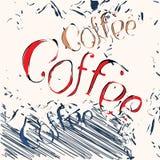 Retro design coffee poster Stock Photos