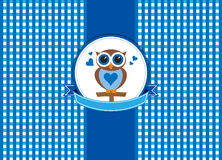 Retro design cute owl Royalty Free Stock Images