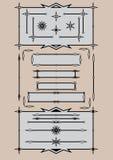 Retro design elements. Set of retro design elements vector illustration Royalty Free Stock Photo