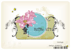 Retro design-elements. Grungy retro design-elements and textures combined to a collage-style vintage label Stock Images