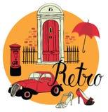 Retro design elements collection Royalty Free Stock Photos