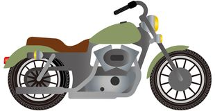 Retro design för motorcykelvektorillustration stock illustrationer
