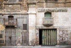 Retro design för tappning i gatan malta för lavalletta den gamla stad Royaltyfria Bilder