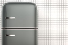Retro design fridge Stock Images