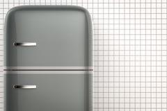 Retro design fridge. 3d rendering retro design fridge stock images
