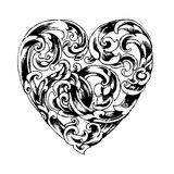 Retro design heart shape Stock Photos