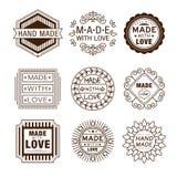 Retro Design Insignias Logotypes , Hand Made Royalty Free Stock Photo
