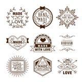 Retro Design Insignias Logotypes , Hand Made Royalty Free Stock Photography