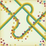 Retro Design LP CD Stock Photography