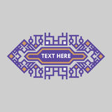 Retro Design Luxury Insignias Frame Template for Logotype. Business sign, identity for Restaurant, Royalty, Boutique, Hotel. Heraldic, Jewelry, Fashion and vector illustration