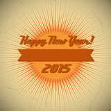 Retro Design 2015. Old vector retro vintage design. 2015 new year Stock Photography