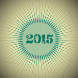 Retro Design 2015. Old vector retro vintage design. 2015 new year Royalty Free Stock Photography