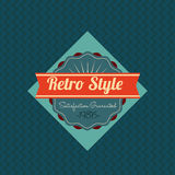 Retro design. Over blue background, vector illustration Royalty Free Stock Photography