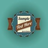 Retro design. Over blue background, vector illustration Royalty Free Stock Photos