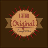 Retro design. Over brown background, vector illustration Stock Photography