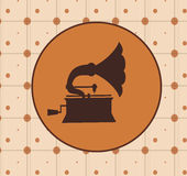 Retro design. Over brown background, vector illustration Stock Image