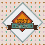 Retro design. Over pink  background, vector illustration Royalty Free Stock Images