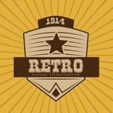 Retro design. Over yellow background, vector illustration Royalty Free Stock Photos