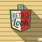 Retro design. Over yellow background, vector illustration Stock Photography