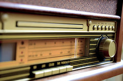 Retro Design Radio. Receiver device Stock Image