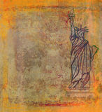 Retro design with Statue of Liberty Stock Photo