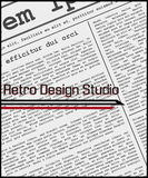 Retro- Design-Studio Lizenzfreies Stockbild