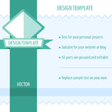 Retro Design Template Stock Photography